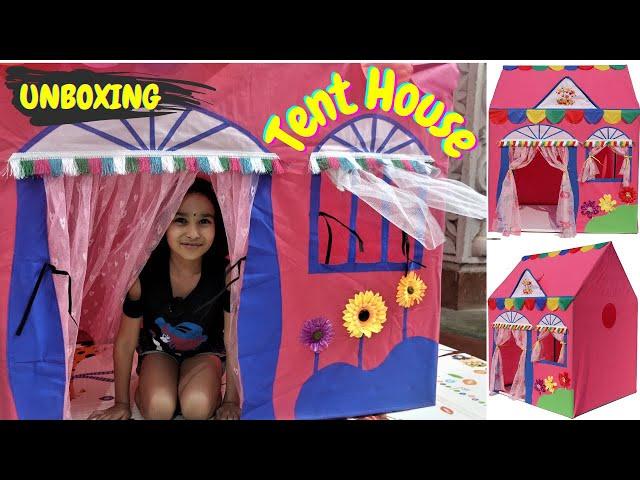 Jumbo Size Play Tent House / UNBOXING / #LearnWithPari #Aadyansh