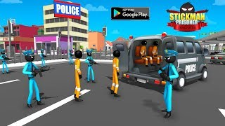 Stickman Criminal Transport : Police Van Simulator By Fazbro (Gameplay)