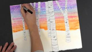 Impressionist Forest: How To Draw Birch Trees