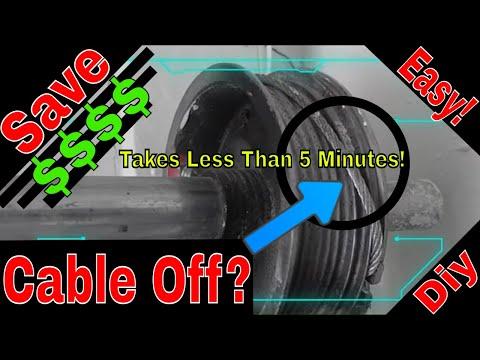 Cable Off Your Garage Door?   EASY DIY
