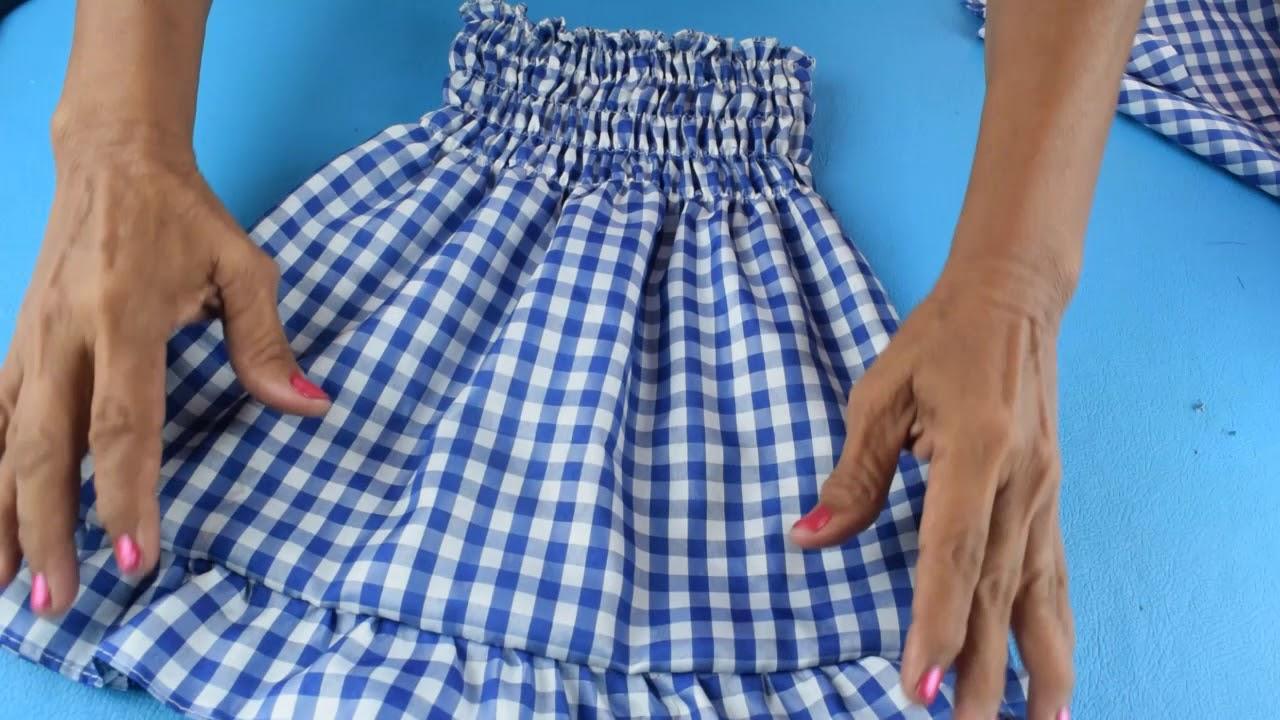 Como Hacer Un Vestido Para Niña Fácil