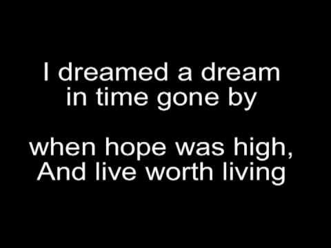 Susan boyle-I Dreamed a Dream Lyrics