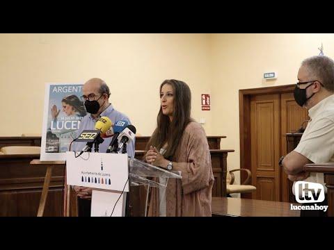 VÍDEO: Argentina cantará en Lucena el 30 de julio. Hoy nos dejó un poquito de su arte en la presentación del concierto
