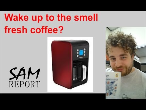 How to set Timer program in Morphy Richards Accents Coffee machine