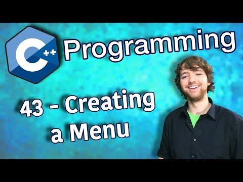 C++ Programming Tutorial 43 - Creating a Menu thumbnail