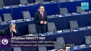 Composition of European Parliament post Brexit is not my business - Jonathan Arnott MEP