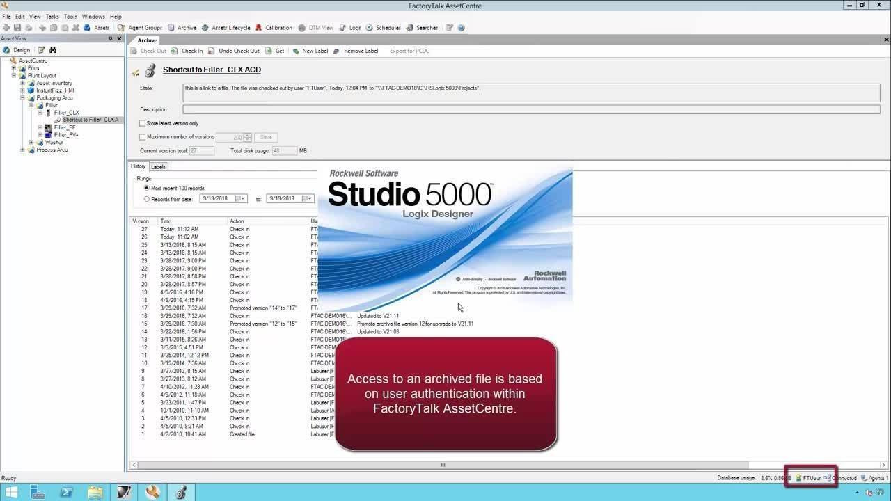 Using FactoryTalk AssetCentre and FactoryTalk Security Software to Secure  Logix Controllers