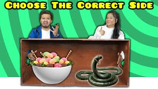 Choose The Right Side Challenge | Funny Food Challenge India | Hungry Birds