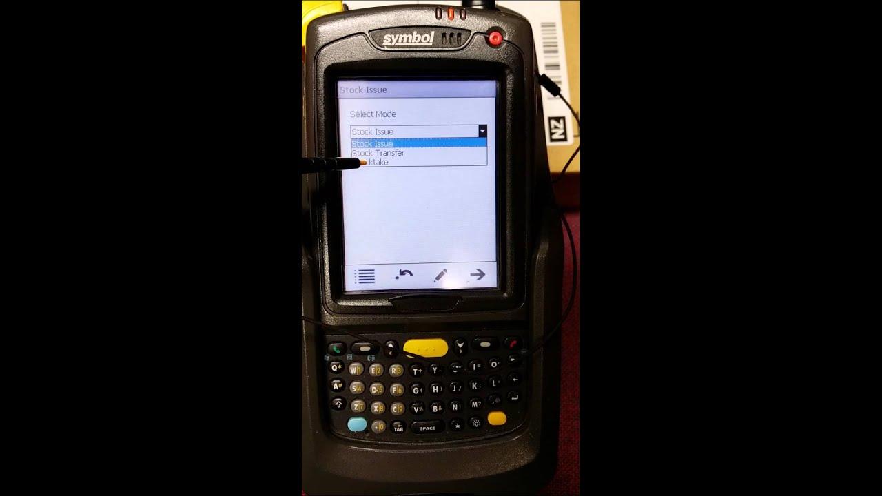 Symbol Mc7095 Wireless Barcode Scanner Youtube