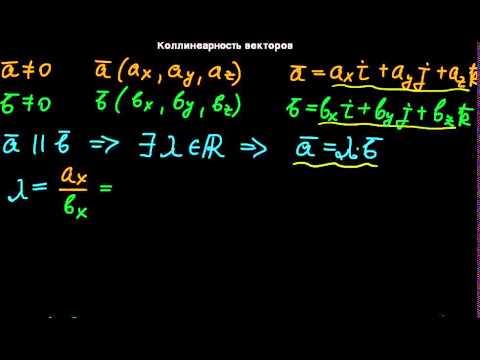 Как проверить коллинеарность векторов