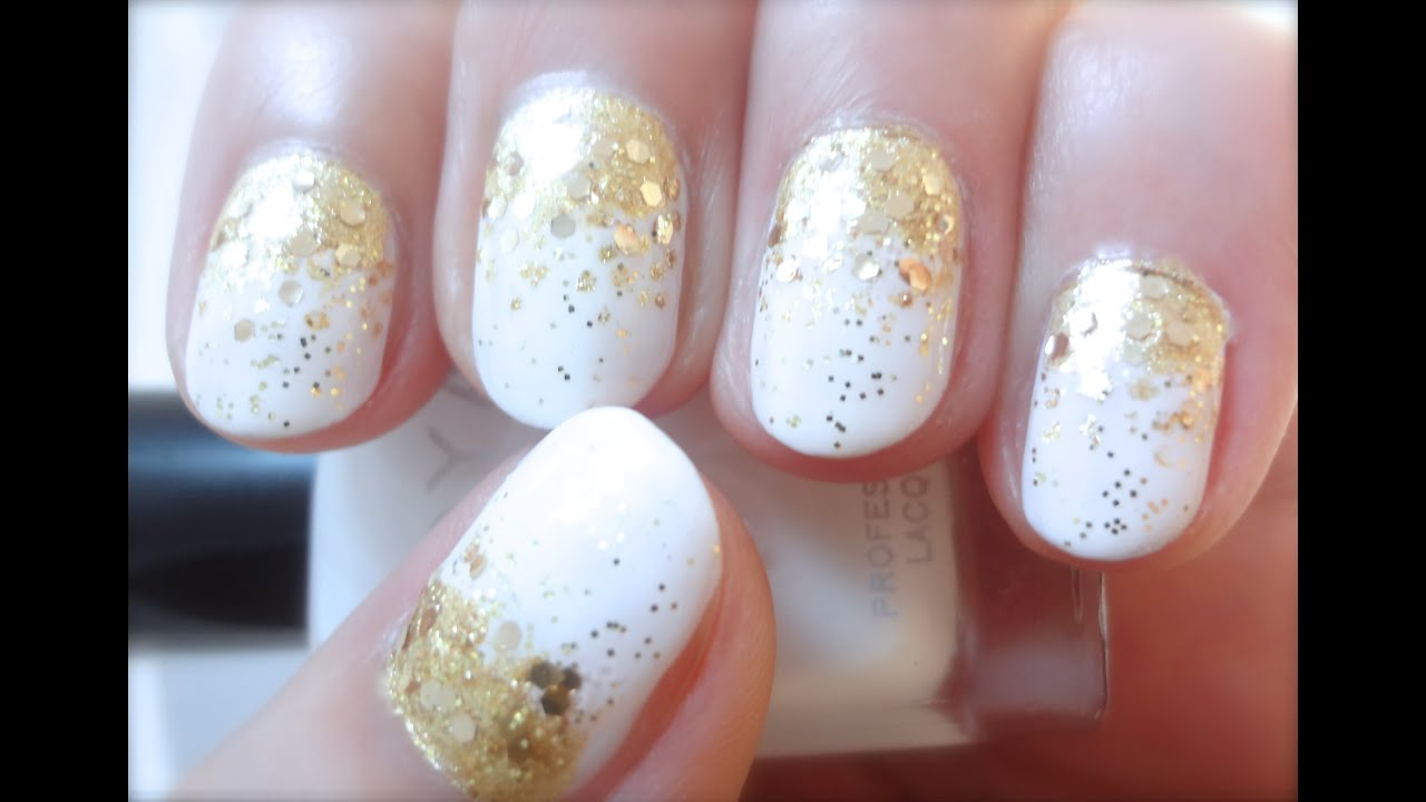 Glam Gradient Gold Prom Nail Design Tutorial Youtube