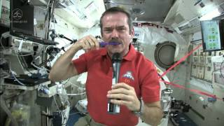 Chris Hadfield Brushes his Teeth in Space thumbnail