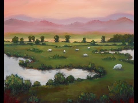 Acrylic Painting Tip #42 – Avoid Using Black When Landscape Painting