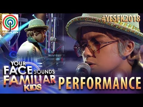 Your Face Sounds Familiar Kids 2018: Noel Comia Jr. as Elton John | Goodbye Yellow Brick Road