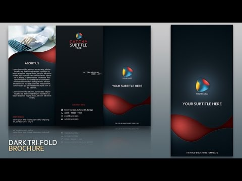 Design Dark Tri Fold Brochure Cover Photoshop Tutorial thumbnail