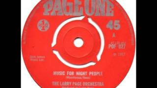 The Larry Page Orchestra - Music For Night People (1967) vinyl