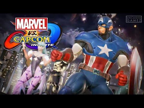Marvel vs. Capcom Infinite: Captain America & Morrigan Reveal Trailer!