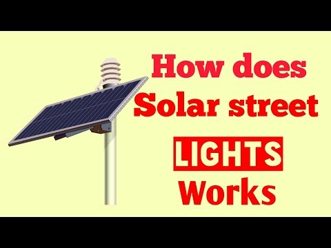 how does solar street lights works