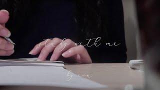 #16【E - Dec. 】study with me、咖啡…