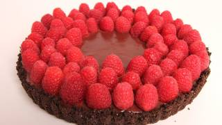 Chocolate Raspberry Tart Recipe - Laura Vitale - Laura In The Kitchen Episode 317