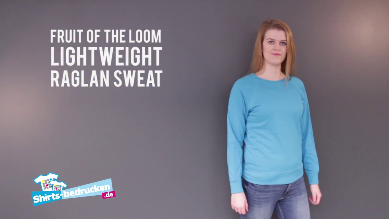 ee1f0bf9 Fruit of the Loom Lightweight Raglan Sweat Lady Fit | 62-146-0 |  shirts-bedrucken.de