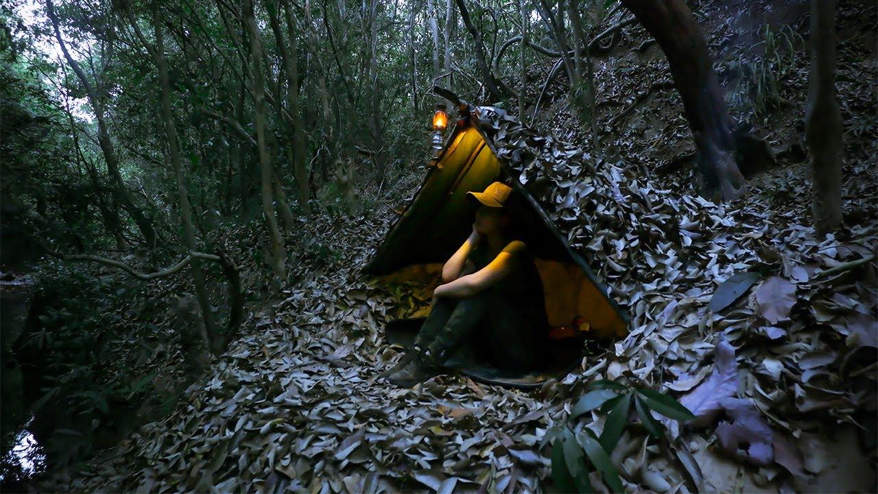 2 Day Solo Bushcraft Trip - Bushcraft Skill - Survival in Rainforest