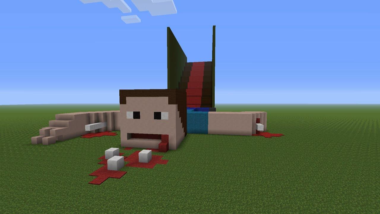 Minecraft Steve Dies Again Falling Down Stairs