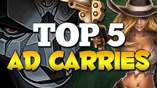 NEW TOP 5 BEST AD CARRIES in Patch 6.19 TO CLIMB WITH (League of Legends)