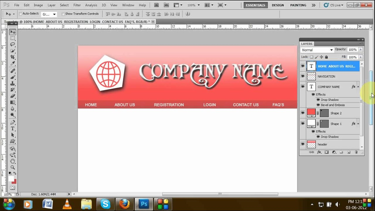 How to create template using Adobe Photoshop (Tutorial for ...