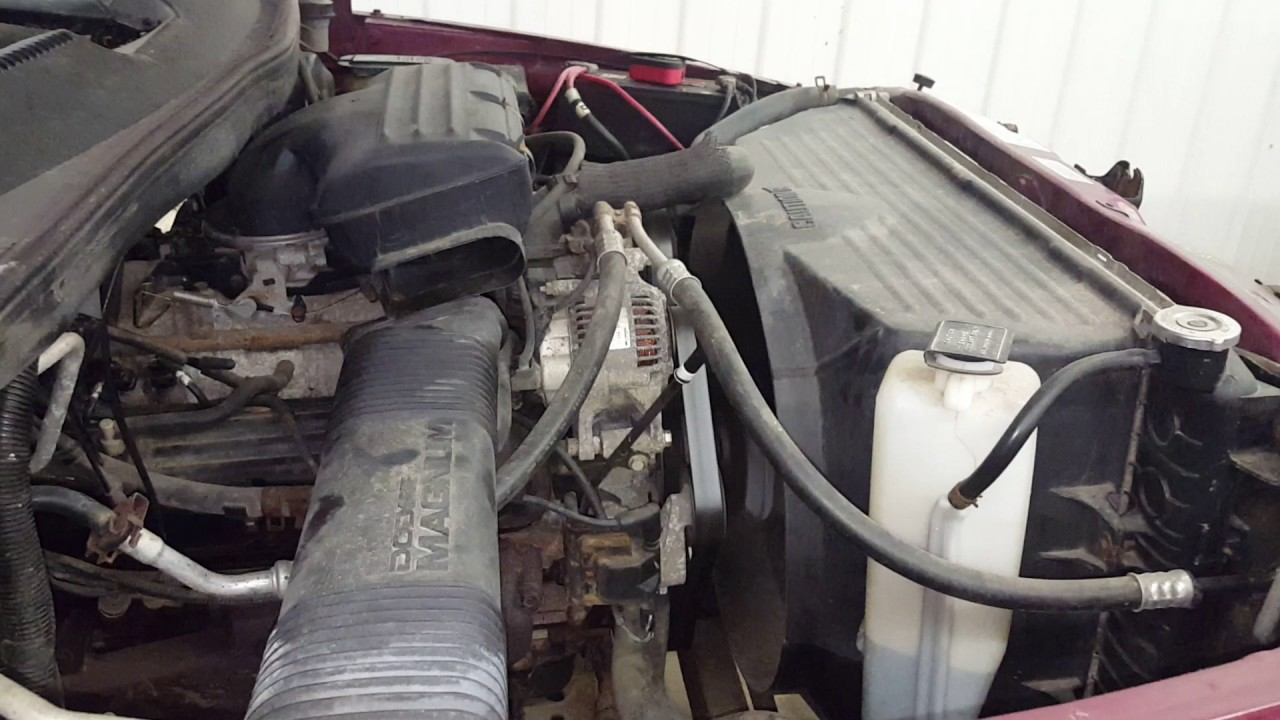5.2 Dodge Engine >> Db0107 1996 Dodge Ram 1500 5 2l Engine Youtube