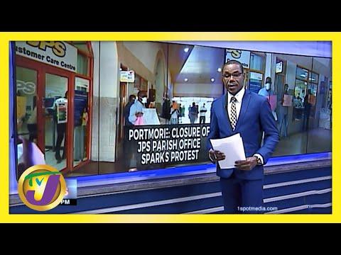 JPS Portmore Office Closure Sparks Protest   TVJ News