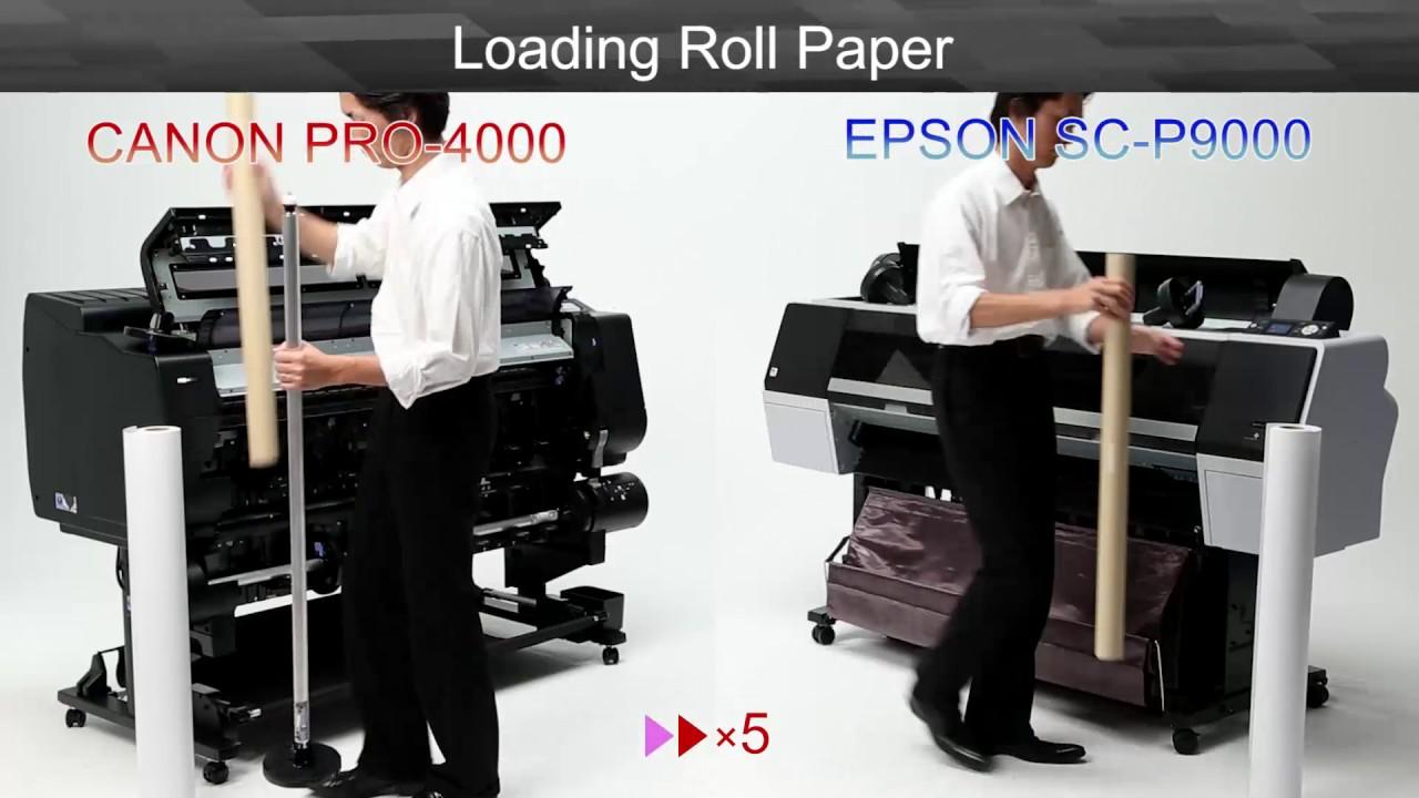 CANON iPF PRO4000 vs EPSON SC P9000x