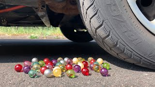 Crushing Crunchy & Soft Things by Car! EXPERIMENT: BATH BOMBS VS CAR