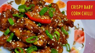 Crispy baby corn chilli Honey chilli baby corn Baby corn Manchurian recipe Indo Chinese babycorn