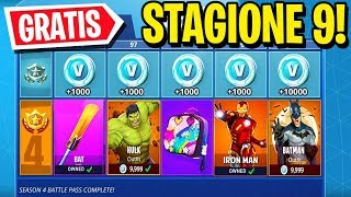 "I'm going to give you the BATTLE PASS of SEASON 9! ""GRATIS"" - Fortnite ITA"