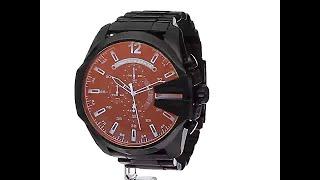 906228ee17c0 Diesel Men s Mega Chief Quartz Stainless Steel Chronograph Watch