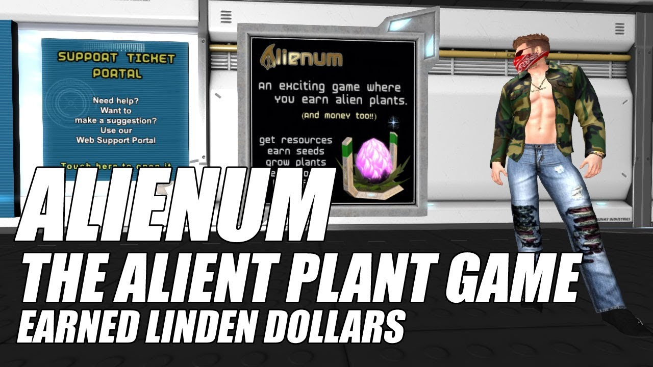 ALIENUM • The Alien Plant Game • Earn Free Linden Dollars In Second Life