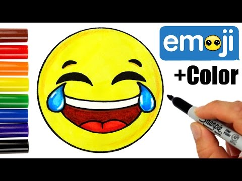 How to Draw Laughing Tears of Joy Emoji Easy