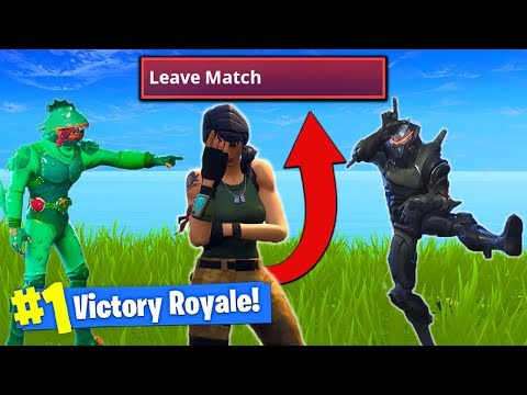 THIS TROLL Made Him *RAGE QUIT* In Fortnite Battle Royale!
