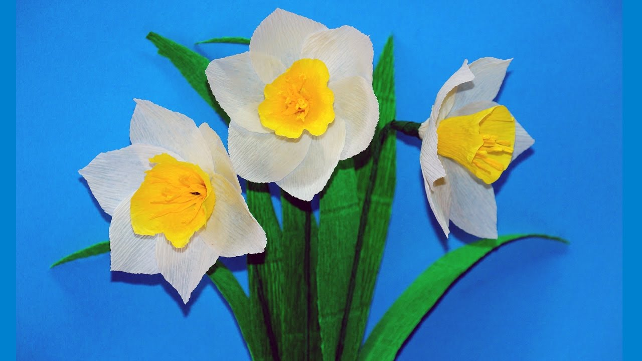 paper flowers making easy  how to make narcissus tissue