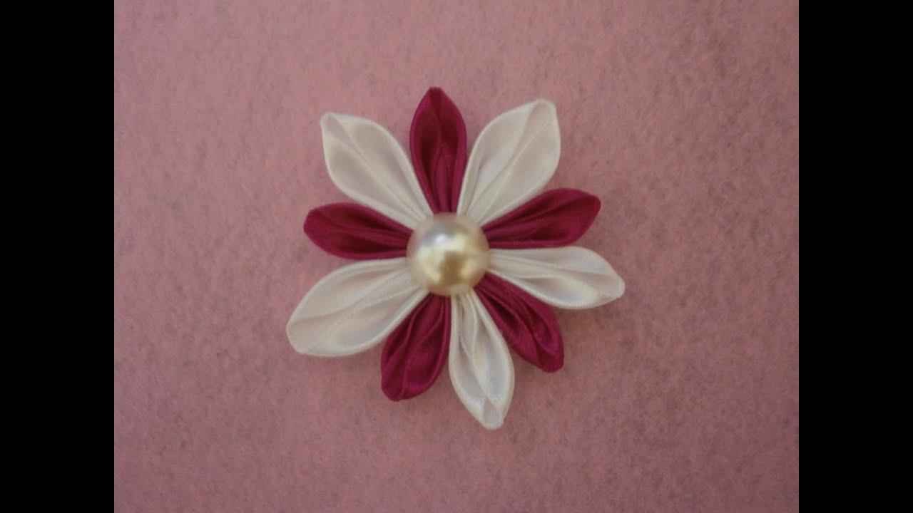 Diy kanzashi flowers how to tutorialfabric flowerseasy youtube diy kanzashi flowers how to tutorialfabric flowerseasy izmirmasajfo