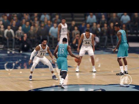 NBA LIVE 18 - Charlotte Hornets vs Memphis Grizzlies - 1st Half - PS4 PRO 1080p - HD