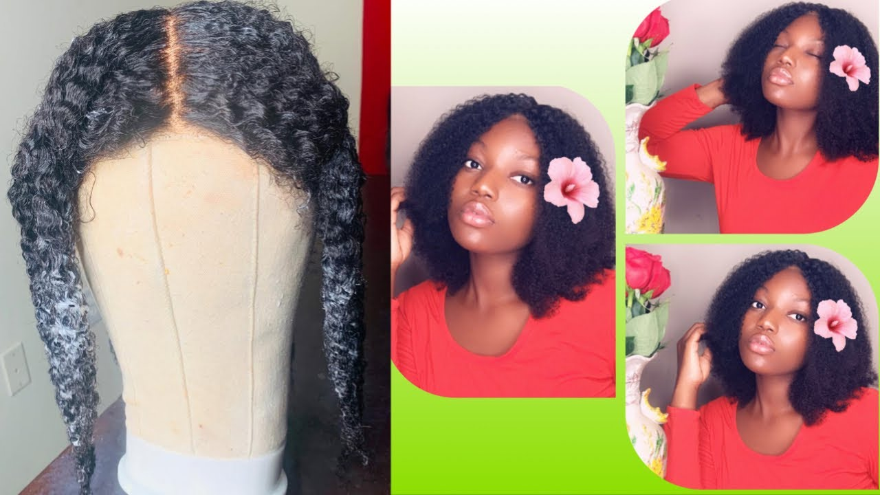 HIGHLY RECOMMENDED🔥  KINKY CURLY HUMAN HAIR WIG  MsBuy(not ...
