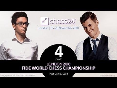 Carlsen-Caruana Game 4 - 2018 FIDE World Chess Championship