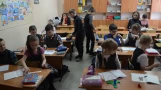 Урок русского языка, тема