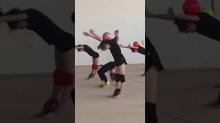 УТС в Уфе  Упражнение с двумя мячами