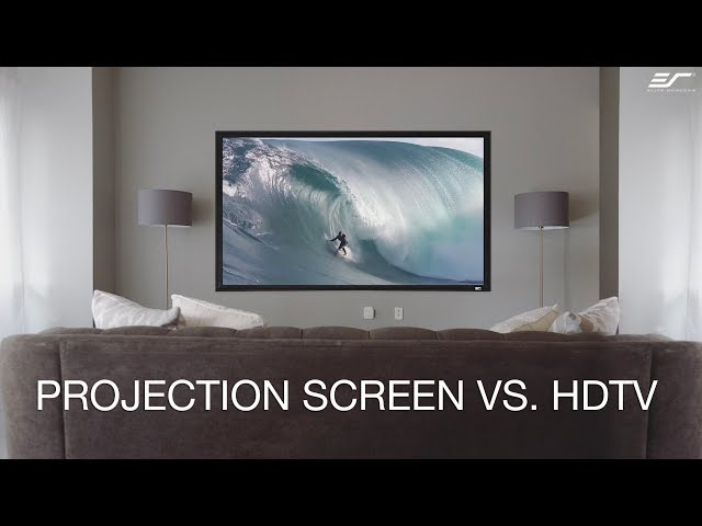 Elite Screens Projection Screen to HDTV Comparison