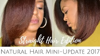 NATURAL HAIR MINI-UPDATE 2017 | STRAIGHT HAIR EDITION | THE CURLY CLOSET