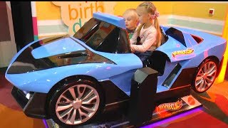 Driving in My Car Song  Ride on Blue HOT WHEELS Children's Playground Pretend Play