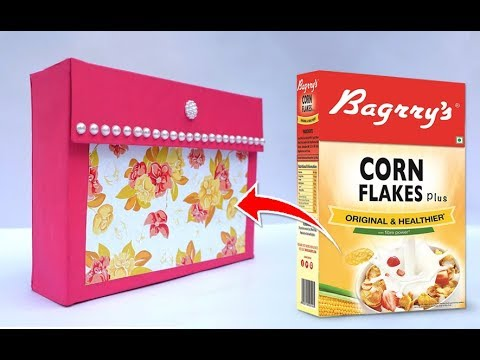 Easy Best Out Of Waste Craft Ideas From Cornflakes Box Reuse